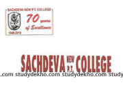 Sachdeva New PT College Logo