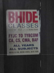 BHIDE CLASSES Logo