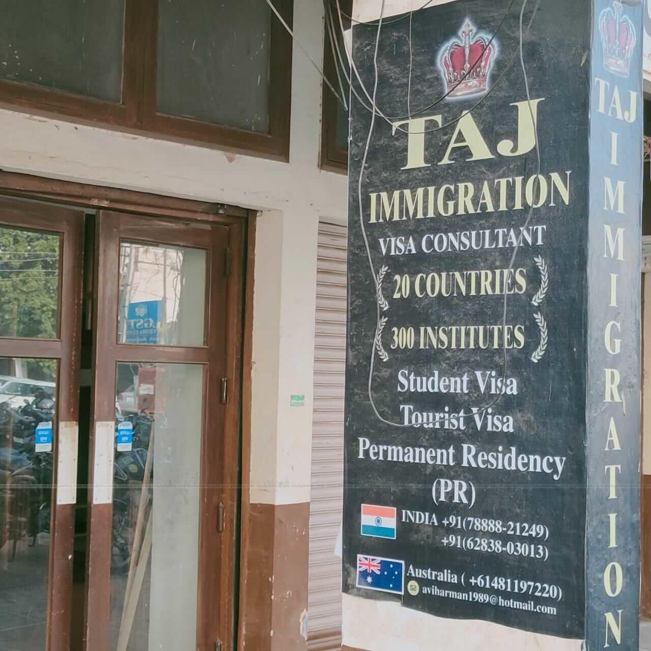 TAJ IMMIGRATION Logo