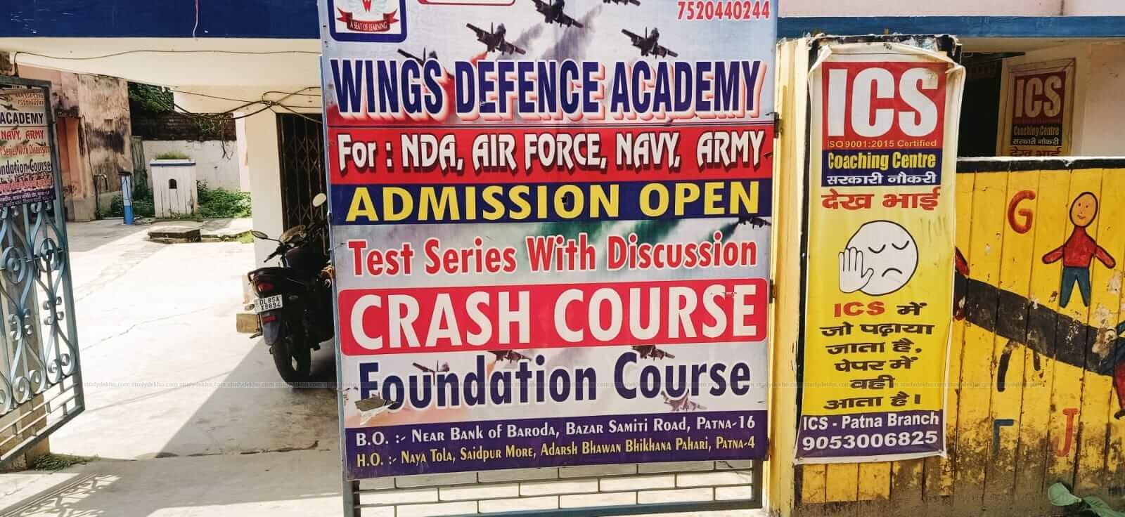 Wings defence academy Logo